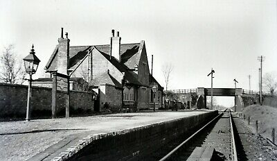Larger size b&w negative Raunds station in 1950s. Sold with copyright(1)