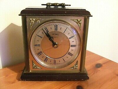 Vintage Metamec Mantle Clock for Spares or Repair.