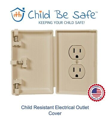 Child Be Safe IVORY Traditional Wall Outlet Protector Baby Safety Cover Guard