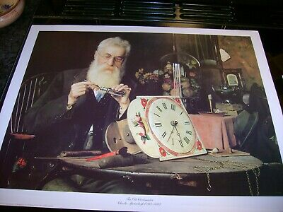 10  New  Prints  For  Framing  Or  Decoupage  Old Clockmaster