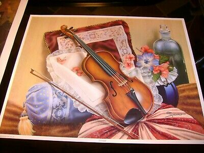 7  New  Prints  For  Decoupage  Or  Just  Framing  Violin / Cushions