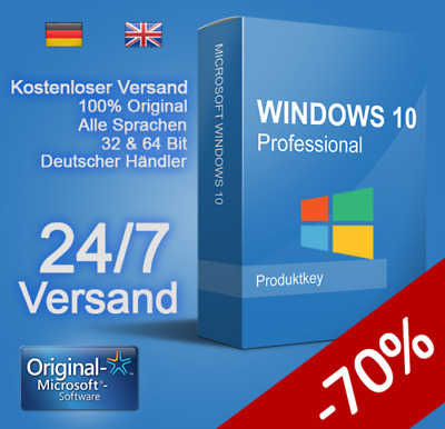 ✅Microsoft Windows 10 Professional Win 10 Pro 32/64 Bit Original Key✅
