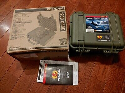 Pelican 1200 Case with Foam (Olive Drab Green) In Box EC
