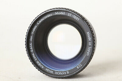 Raynox Wide Angle Lens 0,65x for Video Camcorder Model ST-1001 52mm (142545)