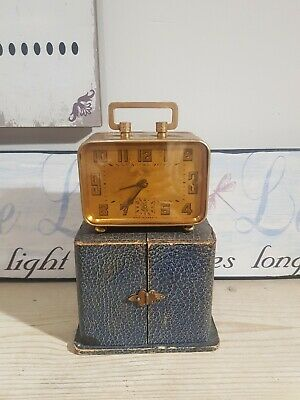 Stunning Antique brass Duverdrey & Bloquel BAYARD clock alarm original box