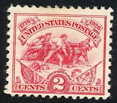 Dr Jim Stamps Us Scott 629 2C White Plains Unused Og Hinged No Reserve