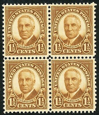 Dr Jim Stamps Us Scott 633 1-1/2C Harding Block Unused Og Nh No Reserve