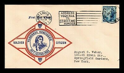 Dr Jim Stamps Us Scott 734 General Kosciuszko Soldier Citizen First Day Cover