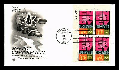 Dr Jim Stamps Us First Day Cover Energy Conservation Plate Block