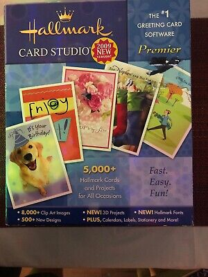 Greeting Card Software Hallmark Card Studio 2009 Cards and Projects NEW 5000