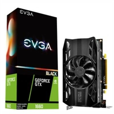 EVGA Video Card 06G-P4-1160-KR GeForce GTX 1660 BLACK GAMING 6GB GDDR5 192B PCIe