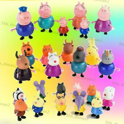 gift 25 Pcs Peppa Pig Family&Friends Emily Rebecca Suzy Action Figures Toys