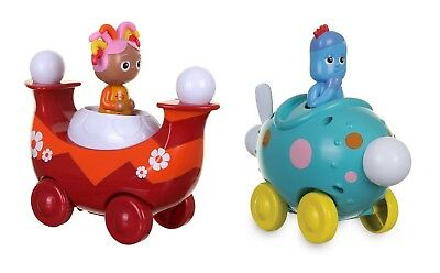 Brand New * In The Night Garden Press Go Igglepiggle Pinky Ponk véhicule