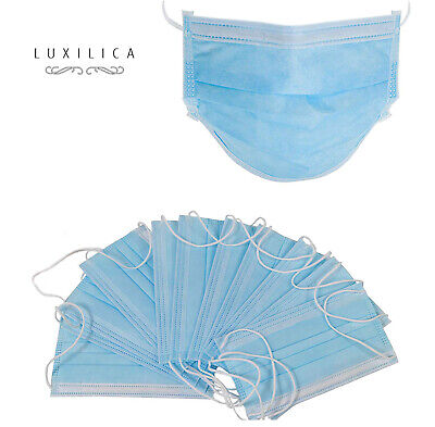 Disposable Face Masks, Hypoallergenic Thick 3-Ply Face Mask for Virus Protection