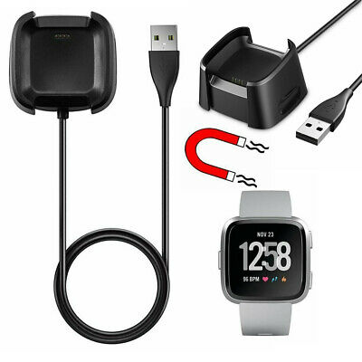 USB Stable Cable Charging Cradle Charger Dock Case For Fitbit Versa Watch