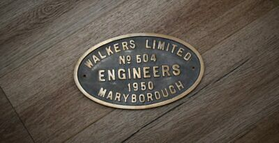 Train Builders Plate Walkers Limited No. 504 - Bronze