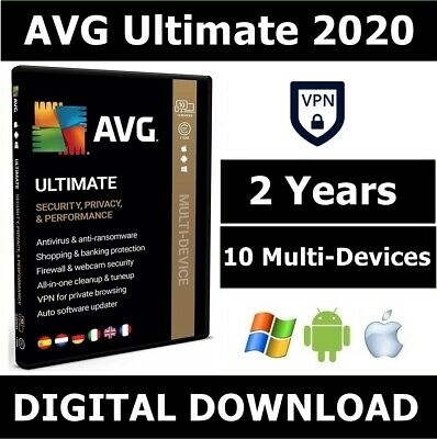 AVG ULTIMATE 2020, 10 Multi-Devices 2 Years with VPN (LATEST DOWNLOAD VERSION)