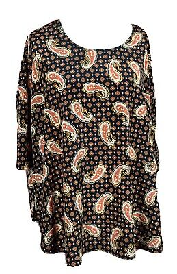 Mamas & Papas Size 10 Lightweight Maternity Print Top 3/4 Sleeves Pregnancy