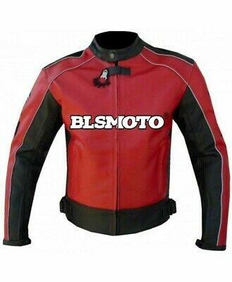RED Honda MotoGp Motorcycle Motorbike Leather Racing Jacket All Size Available