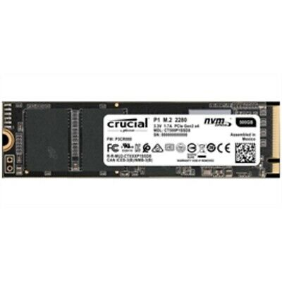 Crucial Solid State Drive CT500P1SSD8 P1 500GB 3D NAND NVMe PCI-express M.2 SSD