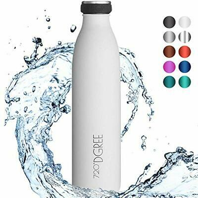 Botella Agua Acero Inoxidable (750ml|10 Snow White | Blanco)