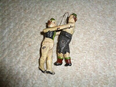 19th century primitive folk art articulated ornamental couple hand carved painte
