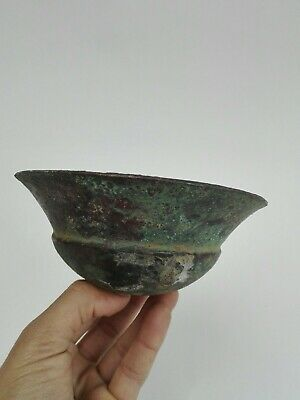 Ancient Roman Dish Bowl Bronze Byzantine Antique Very Rare Artifact Authentic BC
