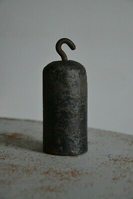 Antique Clock Weight, Casting Iron 1.5kg H11xD5.5cm Genuine