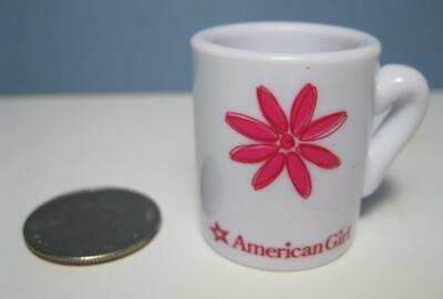 American Girl Doll Pink Flower plastic Tea Cup Coffee Mug Replacement 4 Kitchen