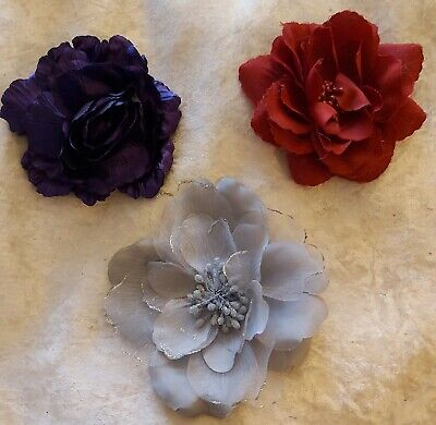Bundle Of 3 Ladies Accessories - Hair Clips/Brooches