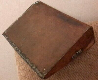 Antique  Copper Hot Water Bottle / Carriage Foot Warmer Bed Warmer A/F