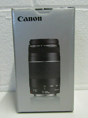 Canon EF 75-300mm f/4-5.6 III Telephoto Zoom Lens for Canon SLR Cameras SEALED