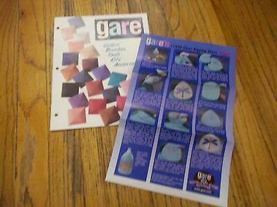 Gare Colors Brushes Tools Kits Accessories Book + Clear Glaze Dipping Tips