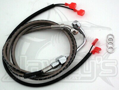 Braided Rear Brake Line Kit Stainless   Russell R08835DS