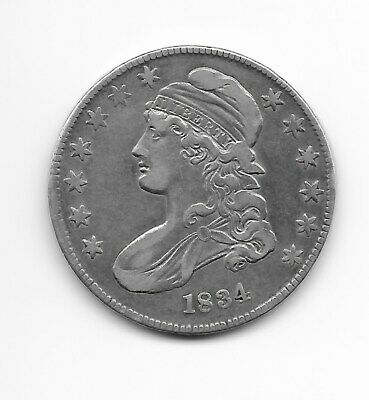 1834 Capped bust Silver Half Dollar - Small Date & Stars