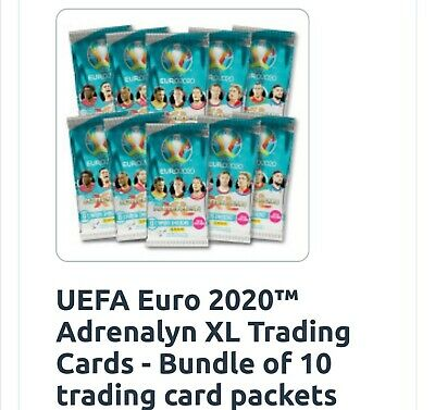 Panini UEFA Euro 2020 Adrenalyn XL Cards 10 sealed Packs rrp  £17 - free postage
