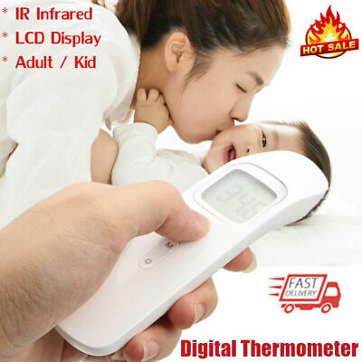 Digital LCD Non-Contact IR Infrared Thermometer Baby Kids Temperature Meter Home
