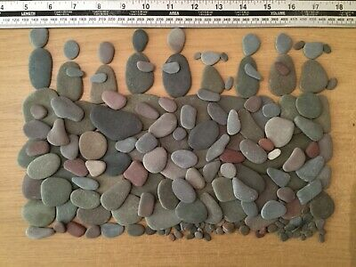 large Selection of mixed flat Pebbles,Stones for pebble art,crafts.B69