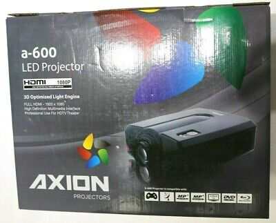 Axion a600 Full HDMI 1080p 3D LED projector + A172 Digital Self Lock Screen New