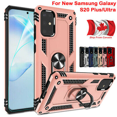 Armor Shockproof Magnetic Ring Stand Case Cover For Samsung Galaxy S20 Plus S20