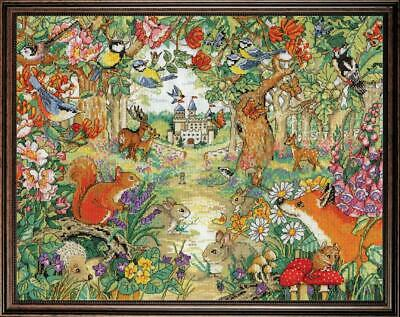 Woodland Castle Clearing Counted Cross Stitch Kit Forest Woods Animals