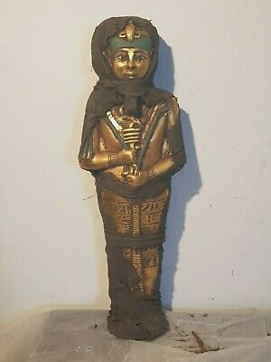 Rare Antique Ancient Egyptian Ushabti Servant minions Water Gold1860-1780BC