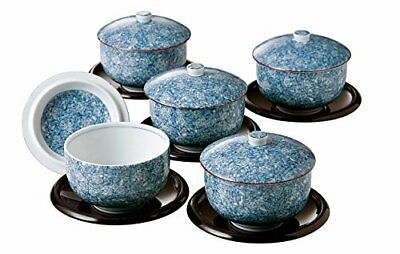 Sencha blue and white porcelain Yoshino saucers with a lid assortment AM-MB27456