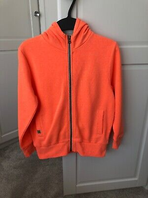Next Boys Bright Orange Hoodie Age 7 Years, Only Worn Once