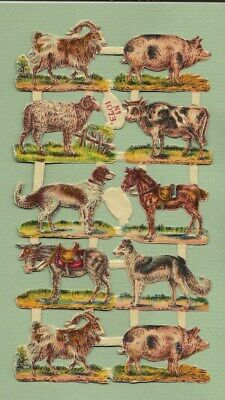 Victorian Die Cut Scraps, Farm Animals  L72b