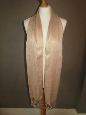 MARKS & SPENCER Ladies Pale Gold Mix Sparkly Blush Lightweight Scarf BNWT NEW B2