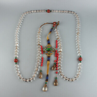 Chinese Exquisite Handmade crystal necklace / Chaozhu