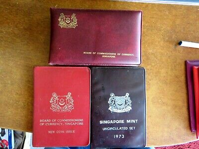 Bulk Lot Of Three Royal Singapore Mint Proof Sets: 1980 1967 1973