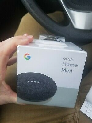 Google Home Mini Smart Assistant - Charcoal Unopened (Canada)