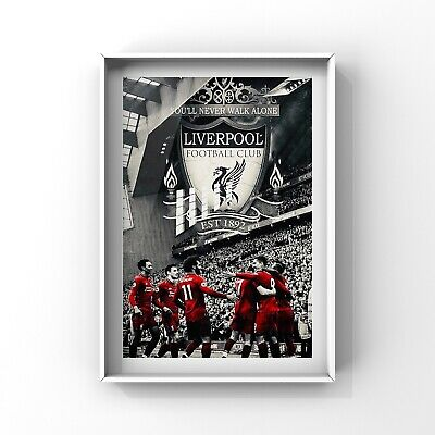 LIVERPOOL FC  art print wall art decor LFC poster gift size A4